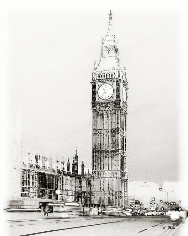 Landscape Poster featuring the photograph Big Ben by Nian Chen