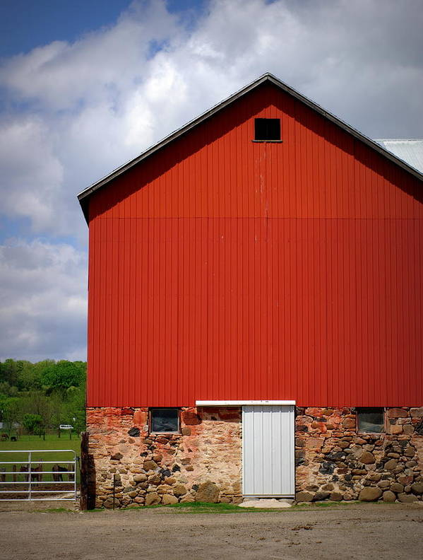 Red Barn Poster featuring the photograph Big Red by Linda Mishler
