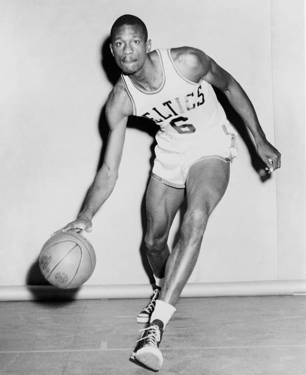 History Poster featuring the photograph Bill Russell In His Boston Celtics by Everett