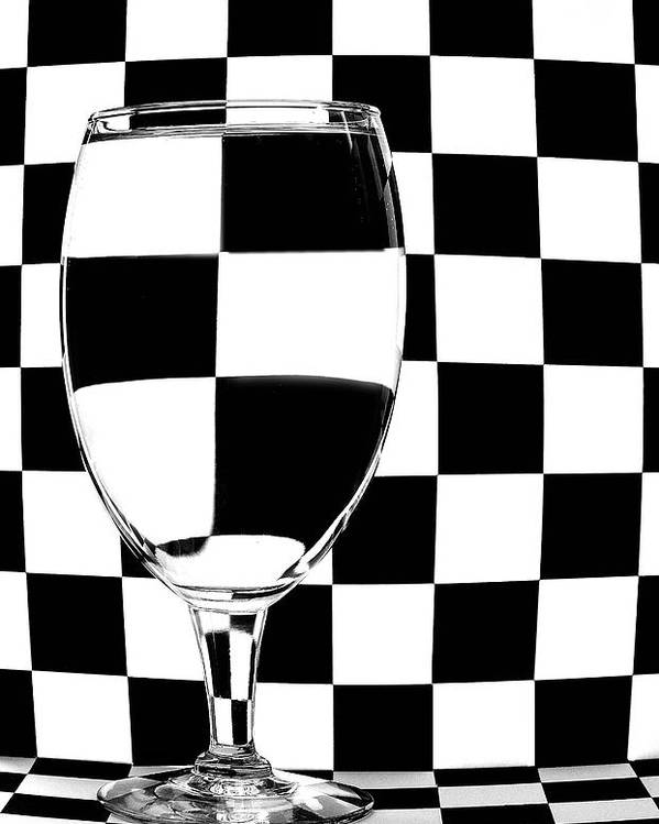 Checker Poster featuring the photograph Black And White by Mark Fuller