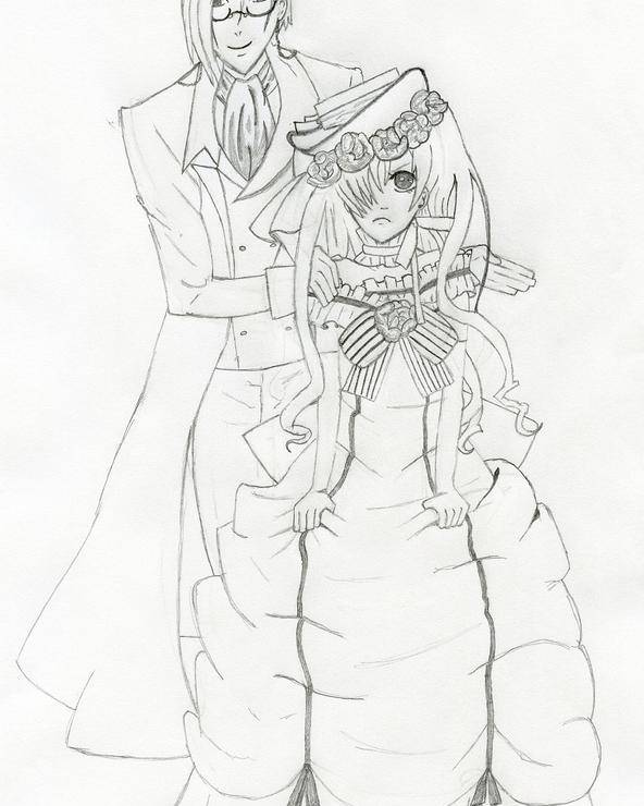 Black Butler Poster featuring the drawing Black Butler Fan Art by Ashley Rommel