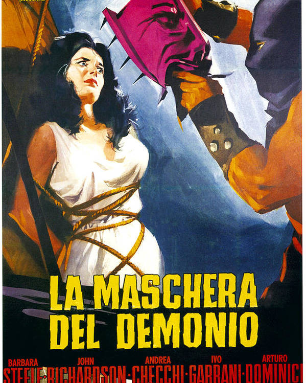 1960 Movies Poster featuring the photograph Black Sunday, Aka La Maschera Del by Everett