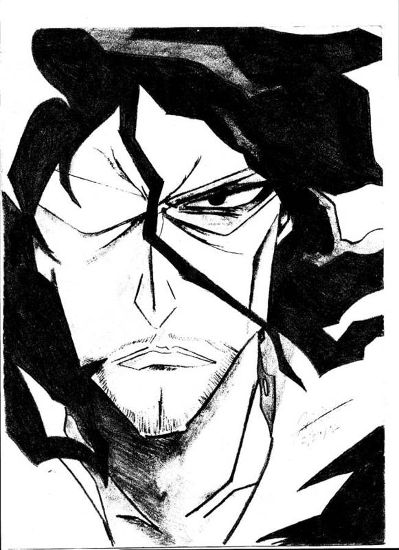 Bleach Poster featuring the drawing Bleach Zangetsu by Justin Segner
