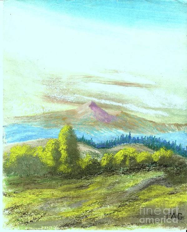 Landscape Poster featuring the painting Blooming Summer by Jessi and James Gault