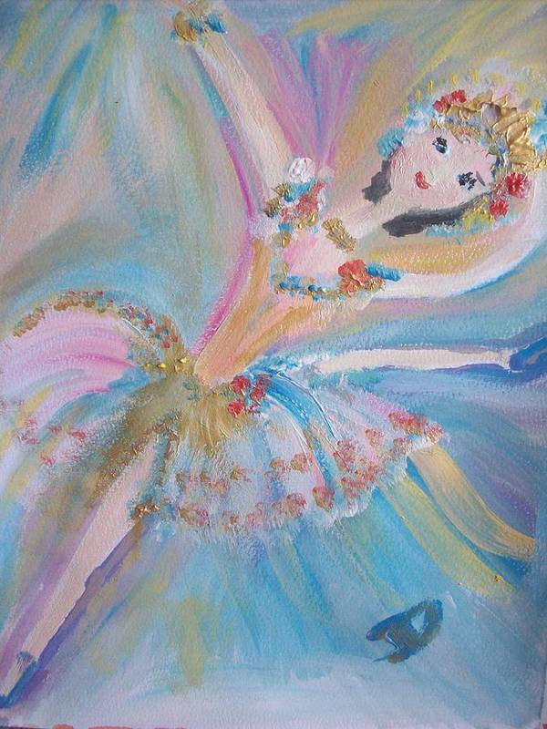 Ballet Poster featuring the painting Blue Ballet by Judith Desrosiers