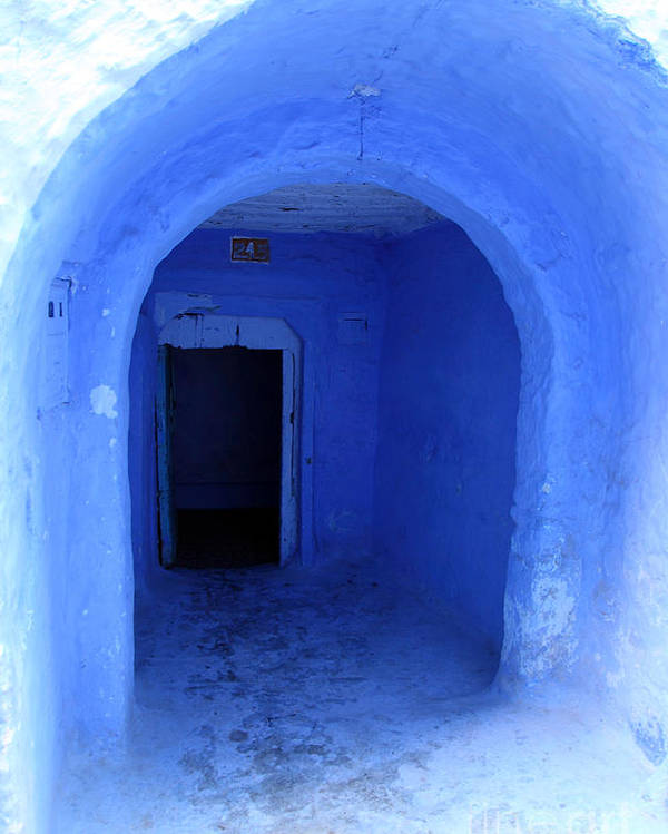 Morocco Poster featuring the photograph Blue Cave by Milena Boeva