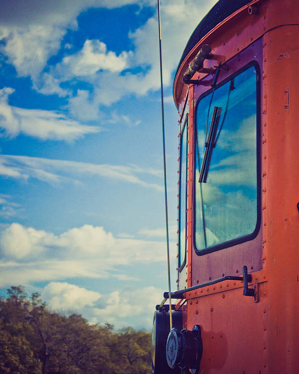 Train Poster featuring the photograph Blue Skies Ahead by Sara Frank