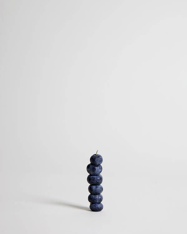 Vertical Poster featuring the photograph Blueberries Arranged Into A Stack, Studio Shot by Halfdark