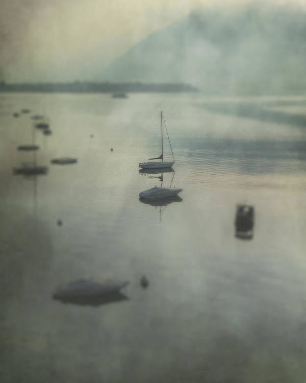 Boat Poster featuring the photograph Boats In Mist by Joana Kruse