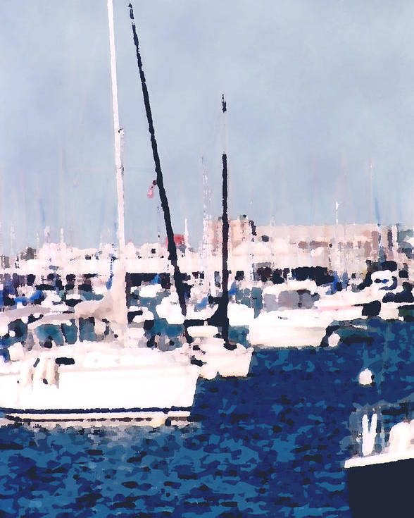 Boats Poster featuring the photograph Boats In Summer by Katriel Jean-Baptiste