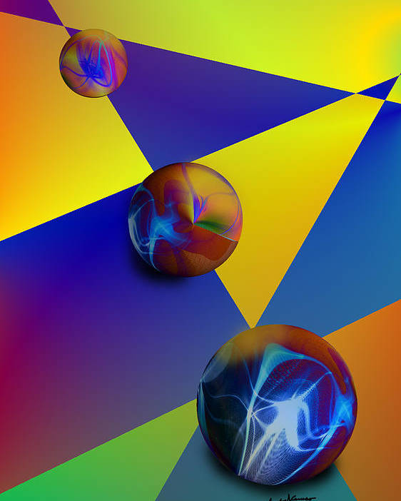 Abstract Poster featuring the digital art Bocce by Anthony Caruso