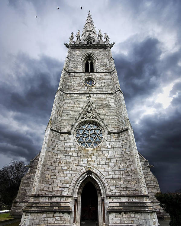 Church Poster featuring the photograph Bodelwyddan Church by Meirion Matthias