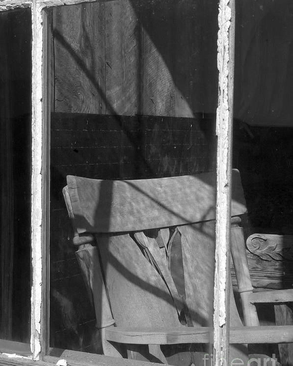 Sandra Bronstein Poster featuring the photograph Bodi Ghost Town Window by Sandra Bronstein