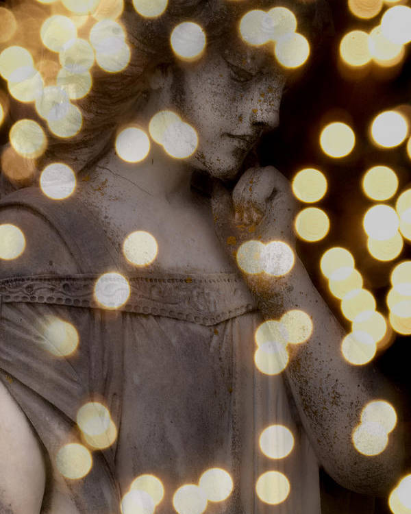 Angel Poster featuring the photograph Bokeh Angel by Sonja Quintero