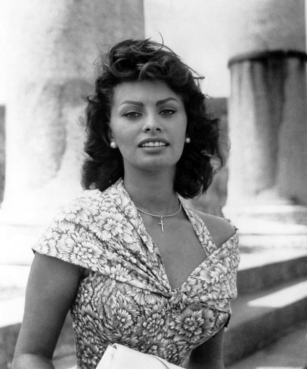1950s Portraits Poster featuring the photograph Boy On A Dolphin, Sophia Loren, 1957 by Everett