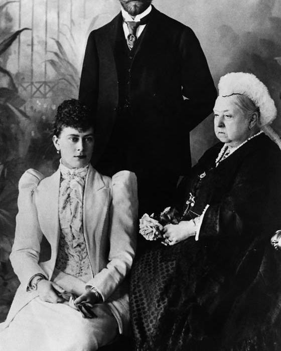 1890s Poster featuring the photograph British Royal Family. Mary, Duchess by Everett