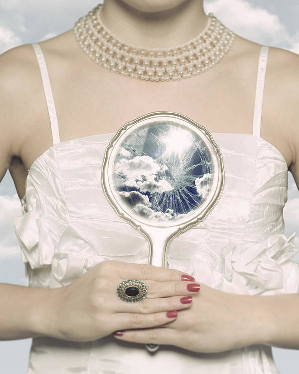 Female Poster featuring the photograph Broken Handmirror by Joana Kruse