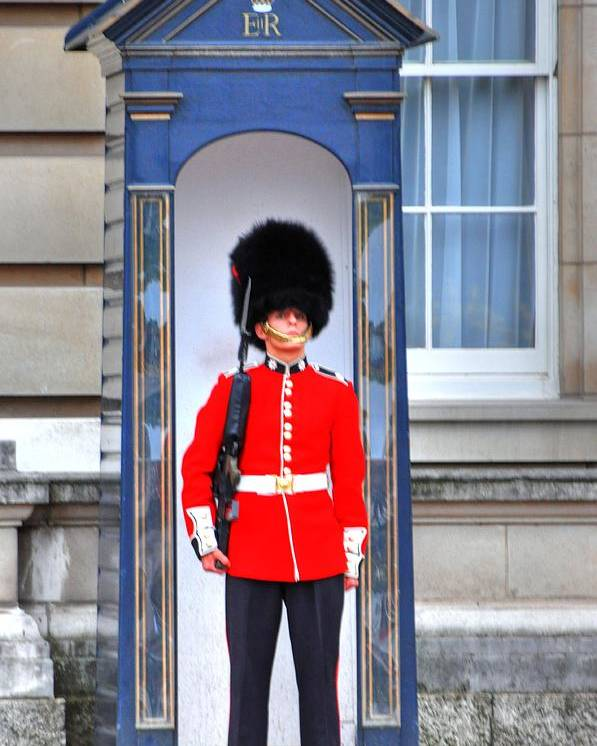 London England Poster featuring the digital art Buckingham Palace by Barry R Jones Jr