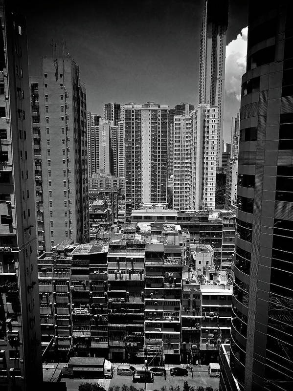Vertical Poster featuring the photograph Buildings In Hong Kong by All rights reserved to C. K. Chan