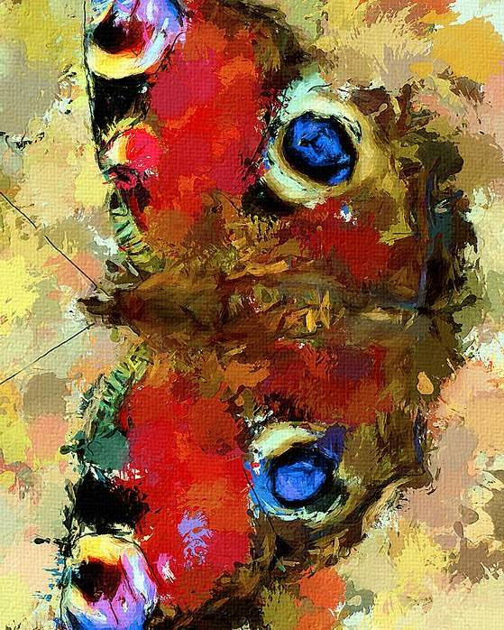 Butterfly Poster featuring the digital art Butterfly by Yury Malkov