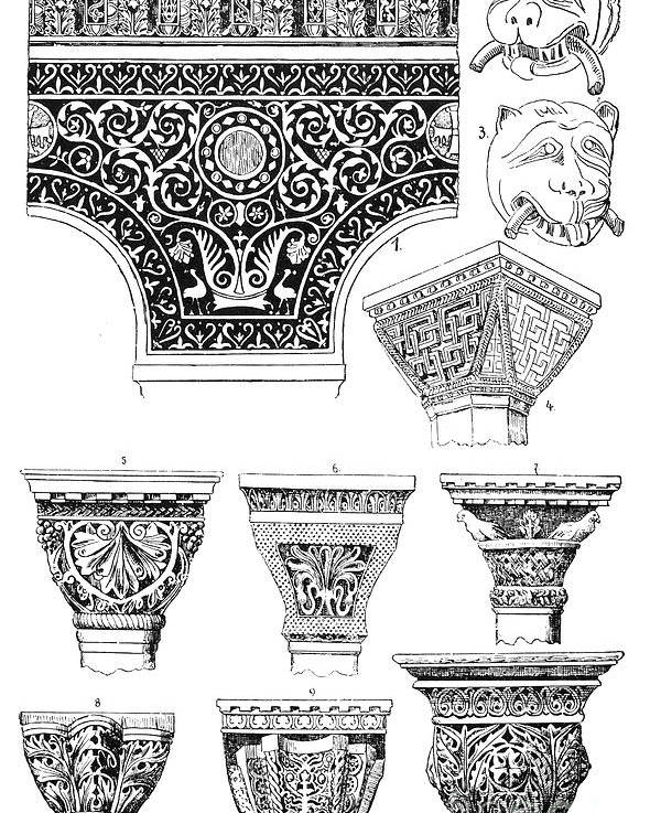 Ancient Poster featuring the photograph Byzantine Ornament by Granger