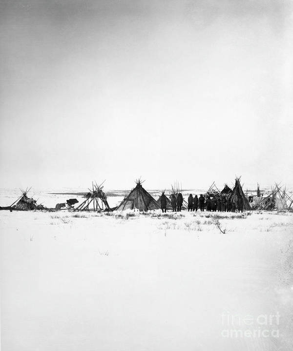 1882 Poster featuring the photograph Canada - Naskapi Camp 1882 by Granger