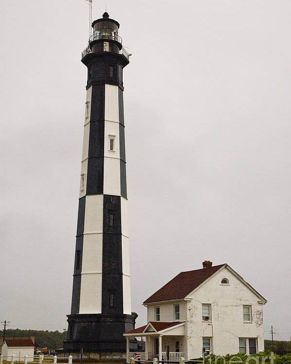 Lighthouse Poster featuring the photograph Cape Henry Lighthouse by Tim Mulina