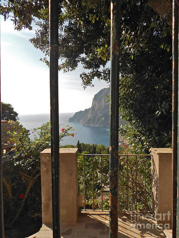 Angelica Dichiara Paintings Poster featuring the photograph Capri by Italian Art