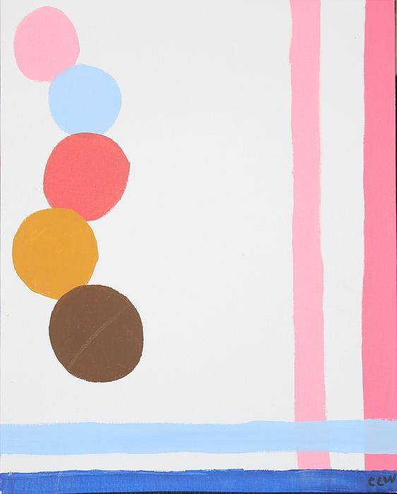 Playful Poster featuring the painting Carnival Colors by Chevonne Witherspoon