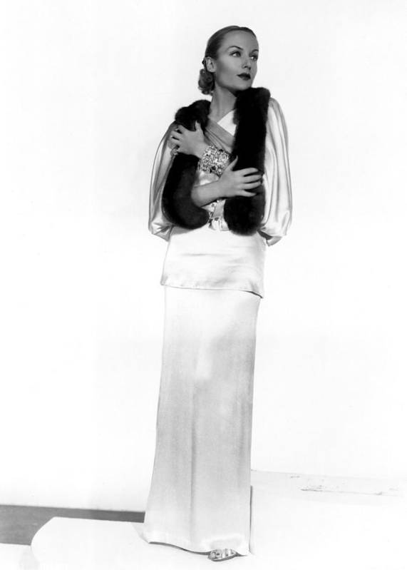 Actress Poster featuring the photograph Carole Lombard, Portrait by Everett