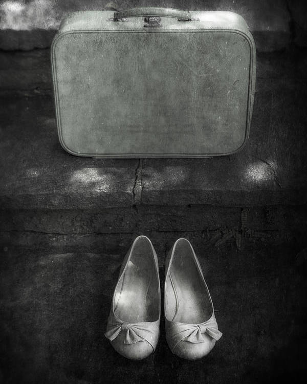 Suitcase Poster featuring the photograph Case And Shoes by Joana Kruse