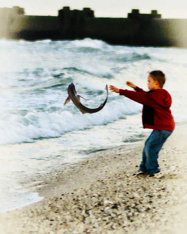 Catch And Release Poster featuring the photograph Catch And Release by Bill Cannon