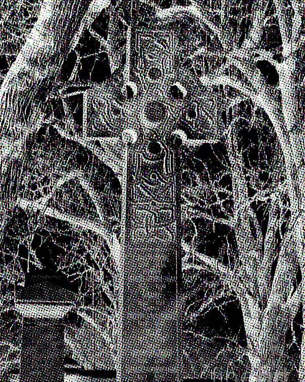 Celtic Cross Poster featuring the photograph Celtic Cross by Stephany Knight