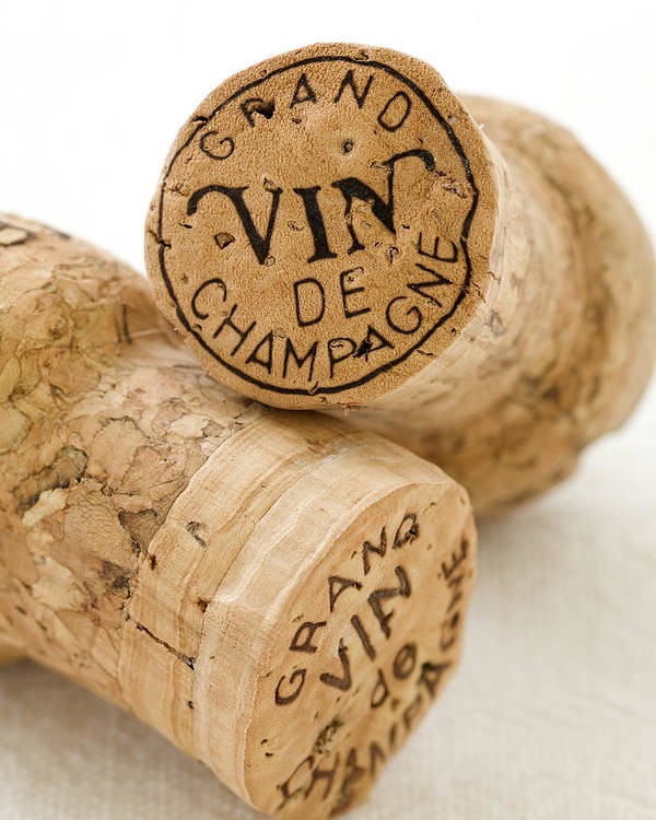 Champagne Poster featuring the photograph Champagne Corks by Frank Tschakert