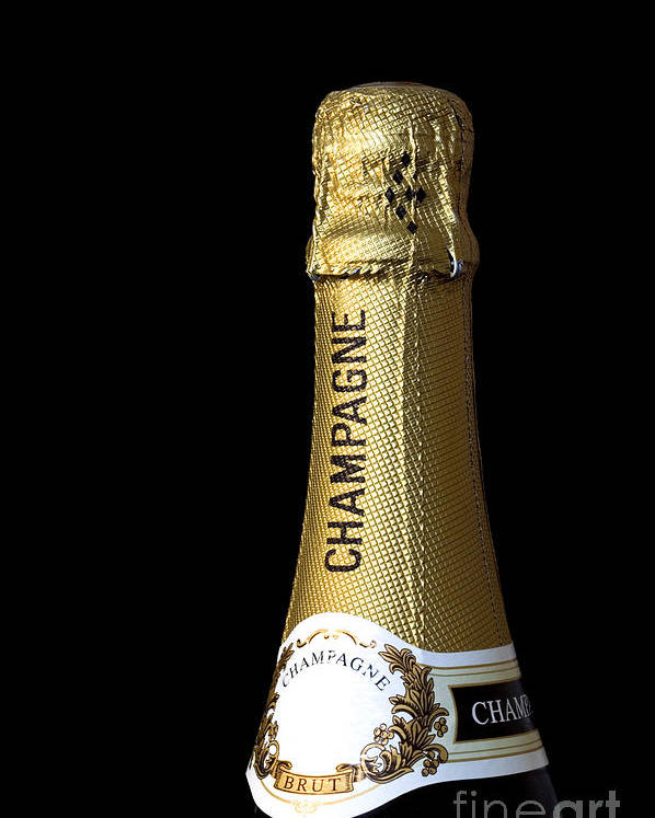 Champagne Poster featuring the photograph Champagne Neck by Richard Thomas