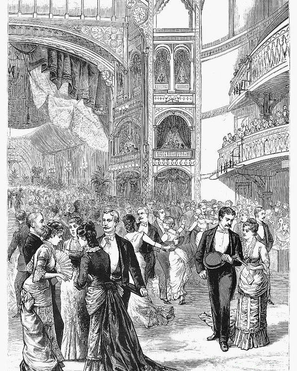 1880 Poster featuring the photograph Charity Ball, 1880 by Granger