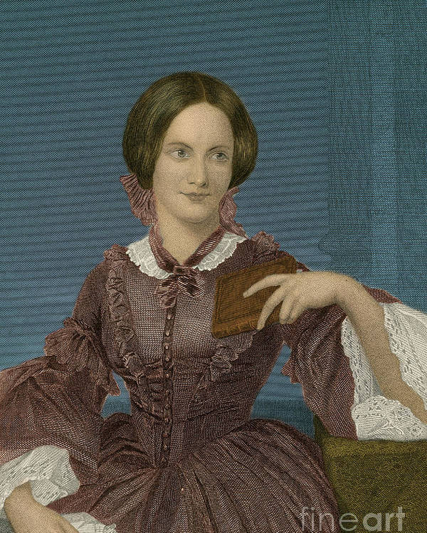 Charlotte Bronte Poster featuring the photograph Charlotte Bronte, English Author by Photo Researchers