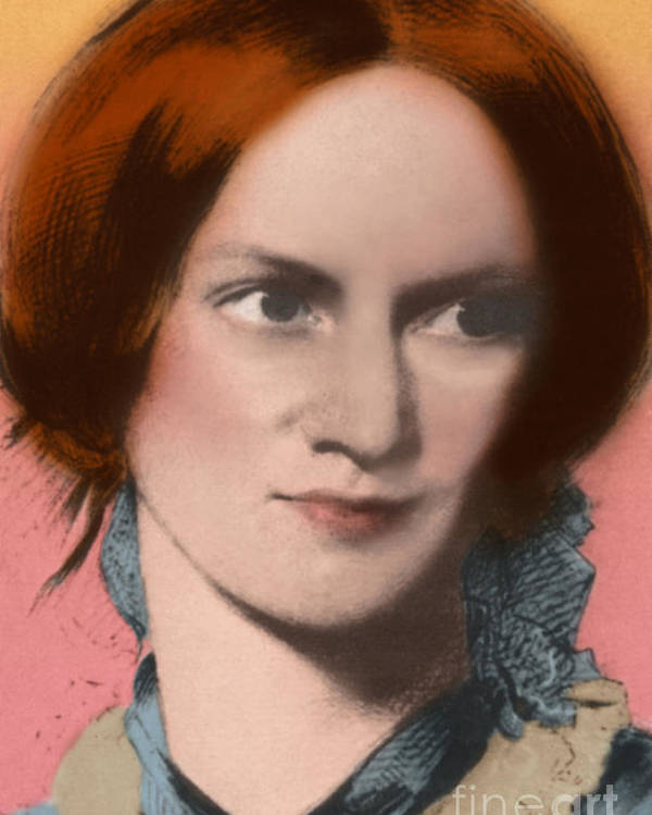 Author Poster featuring the photograph Charlotte Bronte, English Author by Science Source