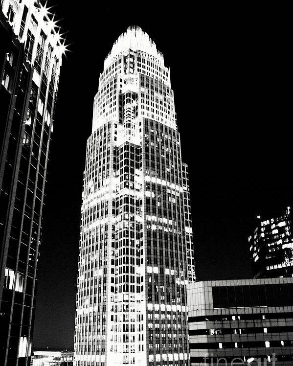 Charlotte Poster featuring the photograph Charlotte North Carolina Bank Of America Building by Kim Fearheiley