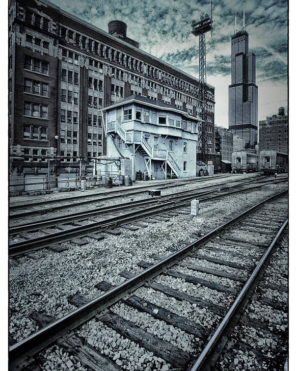 Chicago Poster featuring the photograph Chicago Rail Station by Donald Schwartz