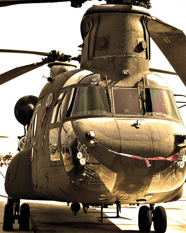 Helicopter Poster featuring the photograph Chinook by Mitch Cat