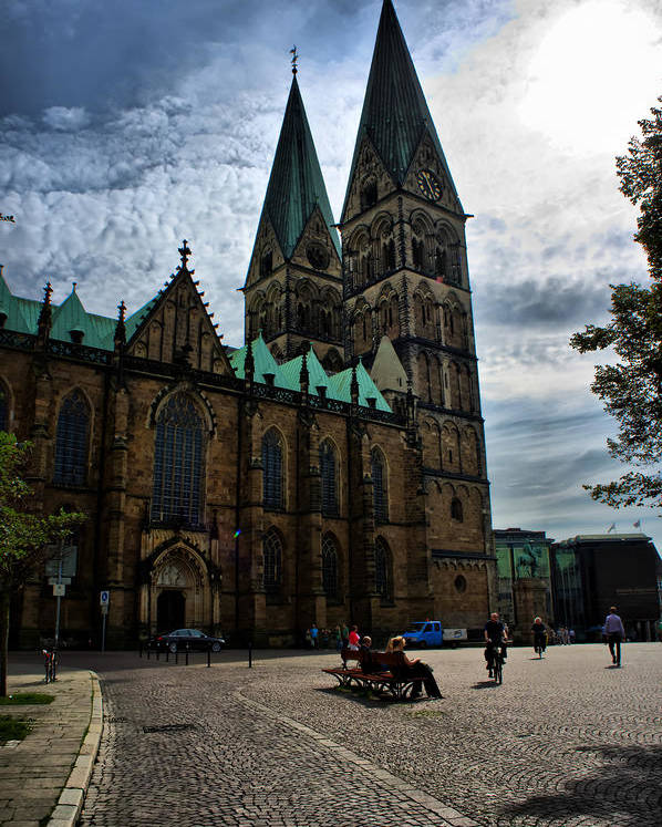 Bremen Poster featuring the photograph Church in Bremen Germany 2 by Edward Myers