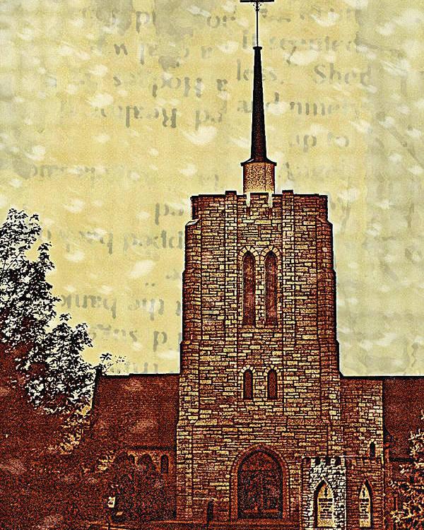 Church Poster featuring the digital art Church by Susan Stone