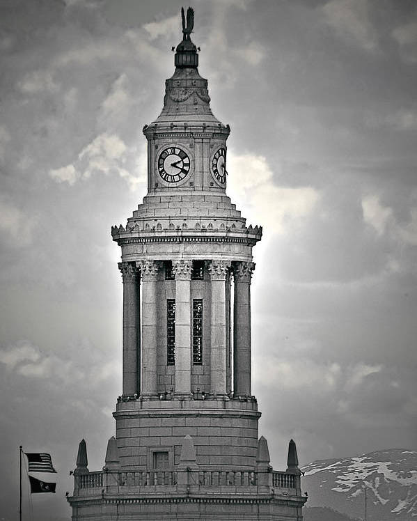 Civic Poster featuring the photograph City And County Of Denver Building by Christine Till
