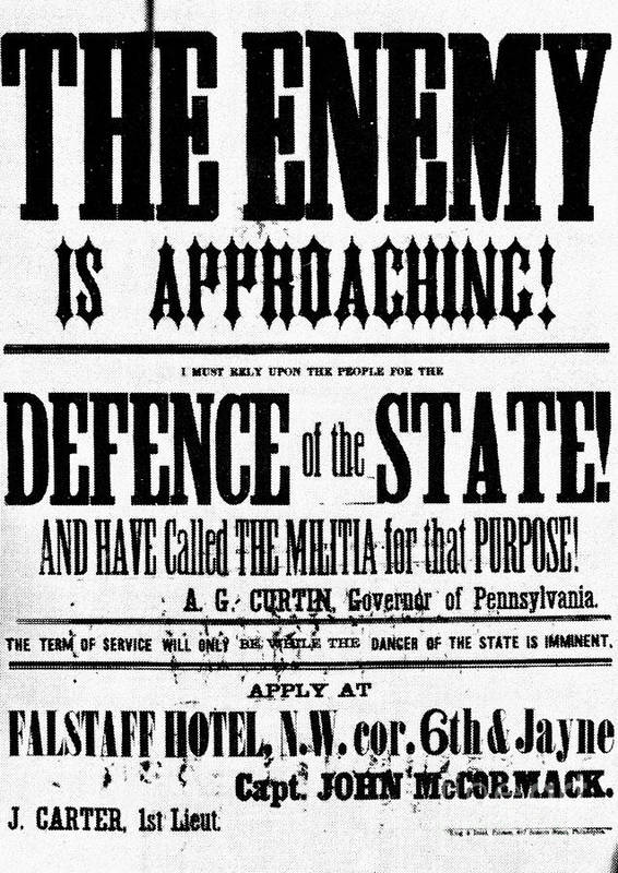 1863 Poster featuring the photograph Civil War: Lees Campaign by Granger
