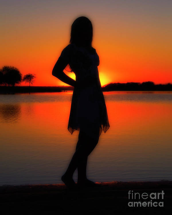 Sunset Poster featuring the photograph Claire by Tamyra Ayles