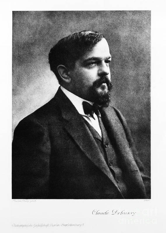 History Poster featuring the photograph Claude Debussy, French Composer by Photo Researchers