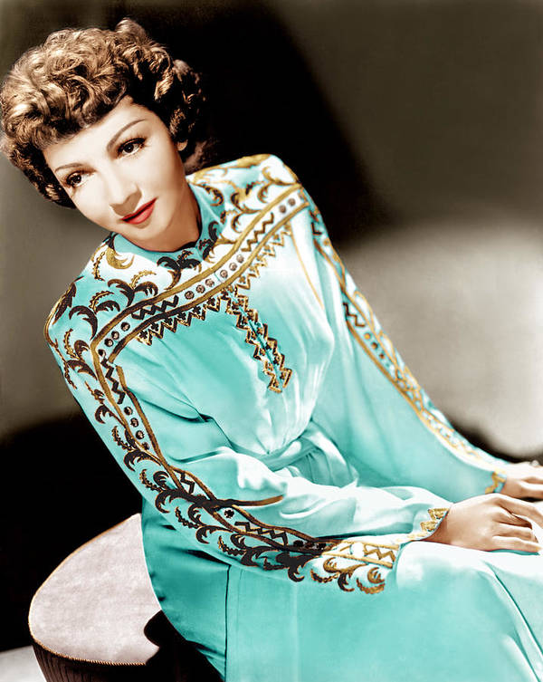 1940s Portraits Poster featuring the photograph Claudette Colbert, Ca. 1940s by Everett