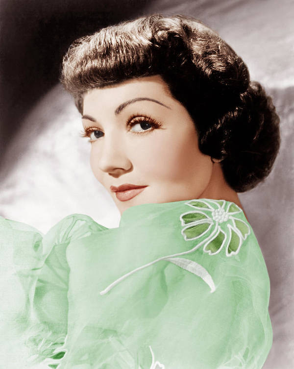 1950s Portraits Poster featuring the photograph Claudette Colbert, Ca. 1950 by Everett
