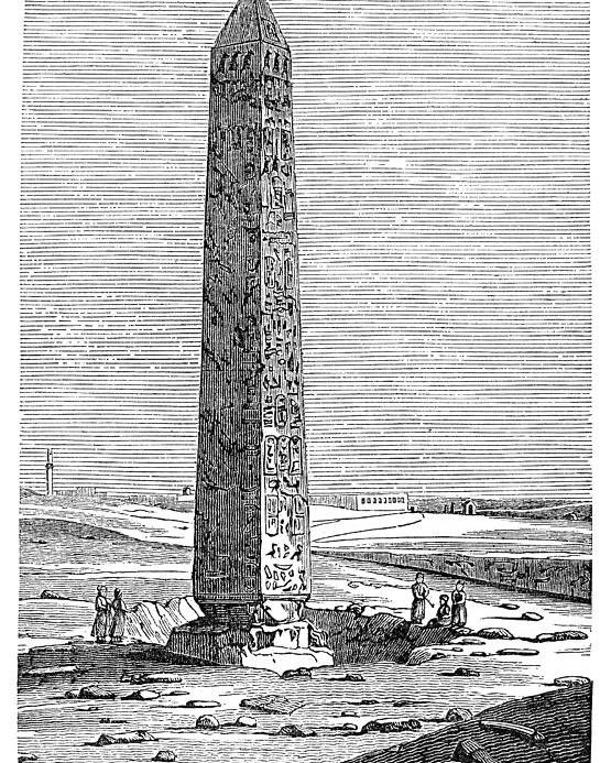 1500 B.c. Poster featuring the photograph Cleopatras Needle by Granger